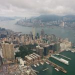 View from the tallest building in hong kong. This is in 118th floor.