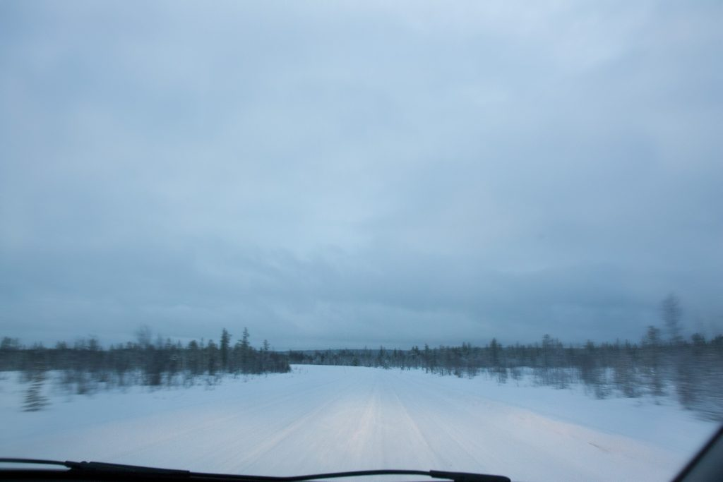 Highway in Finland, you drive around 100km/h on this.