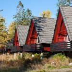 Cabins where we slept in Lofoten