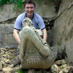 Me on the crocodile
