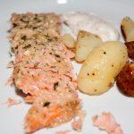 Main dish with salmon