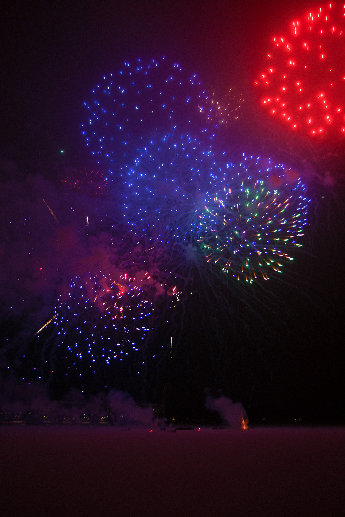 Fireworks in Luleå 2014