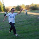 Allen running toward his team.