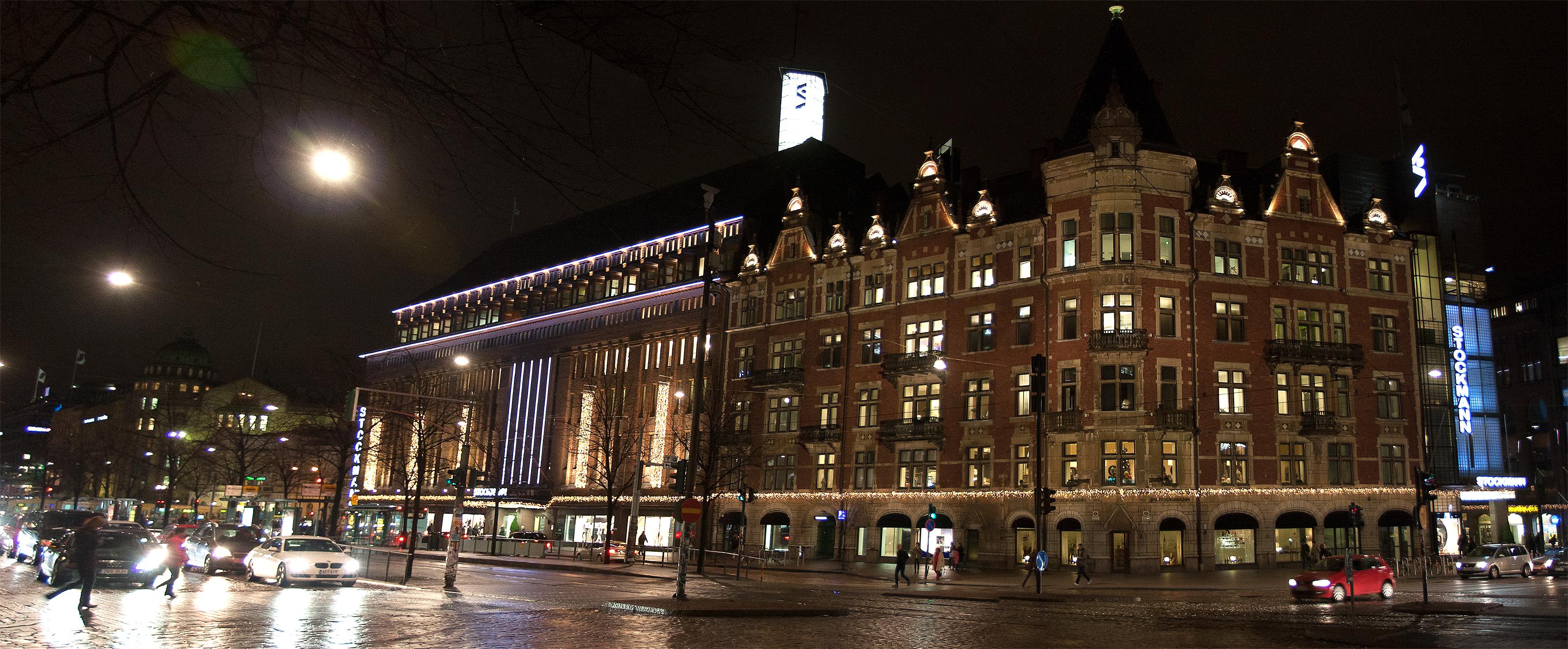 Helsinki during the night