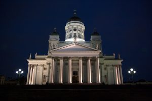 Helsinki during night