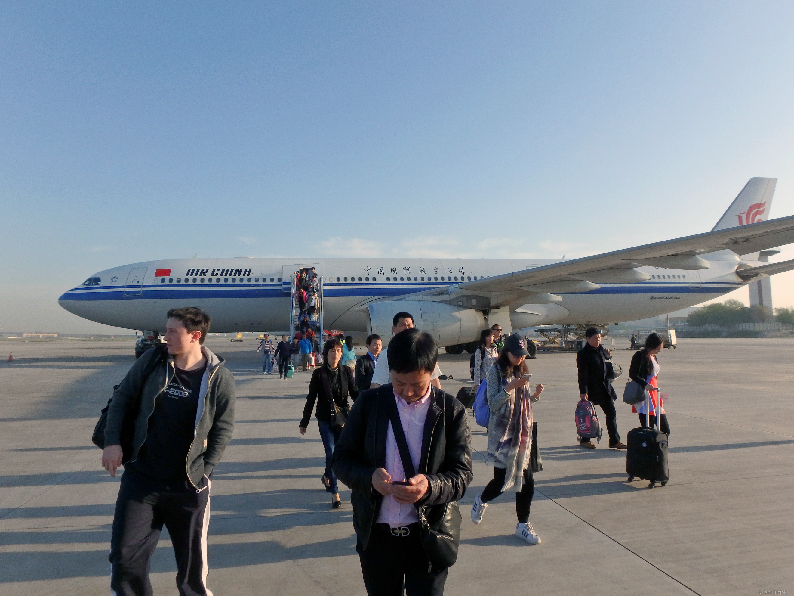 Stepping on China's soil