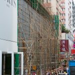 Using bamboo as building skeleton.