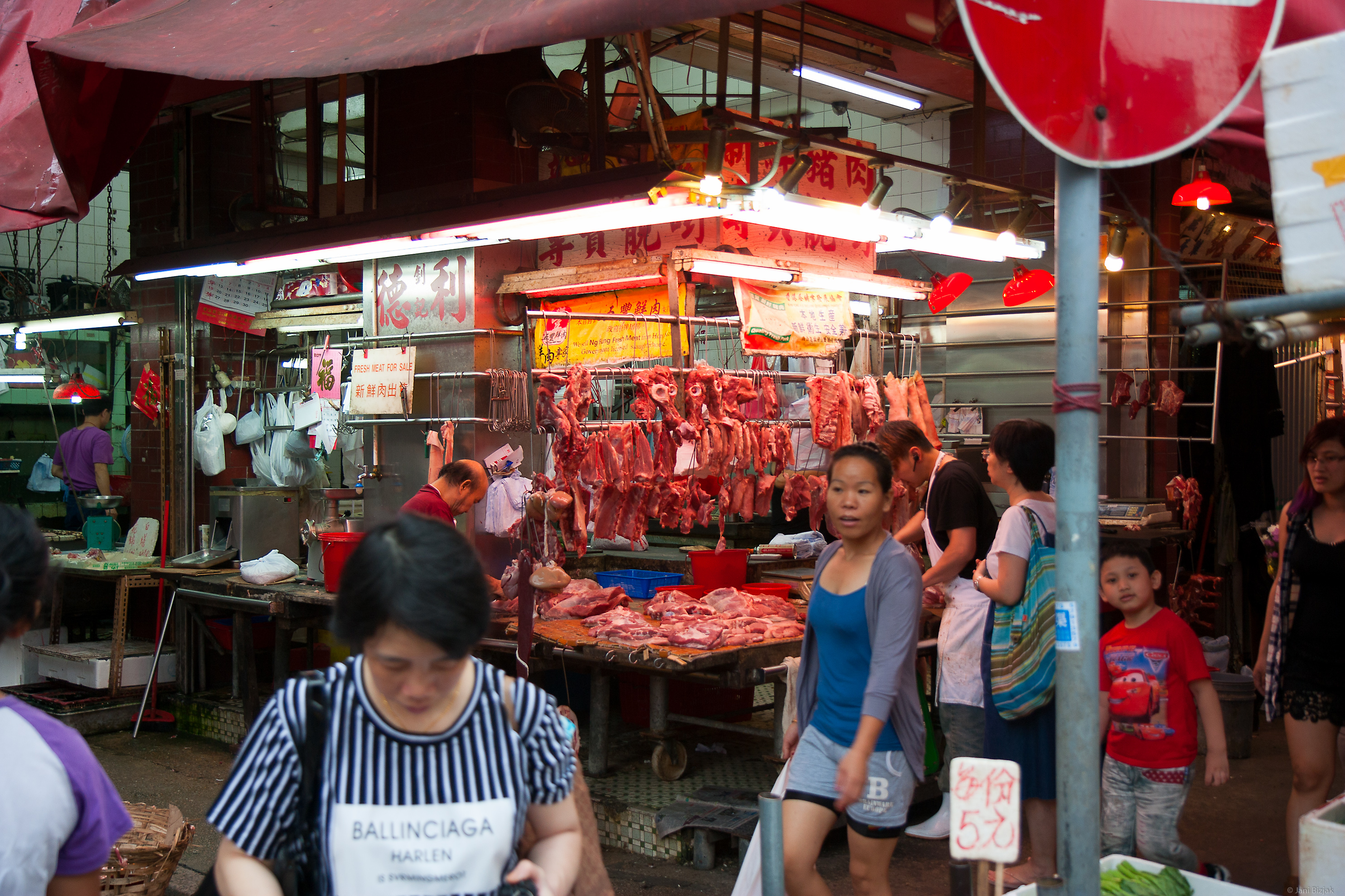 Stalls in the market