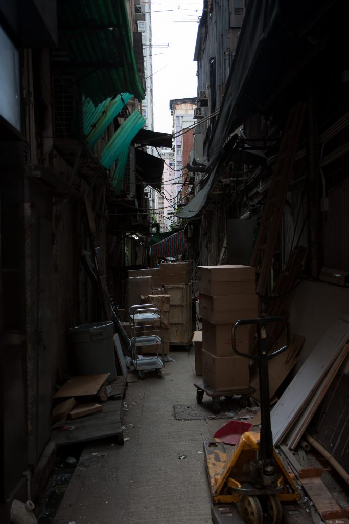 Narrow alley, we didn't dare venture through them.