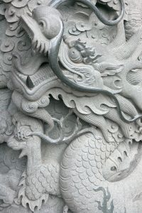 Dragon in the monastery building.