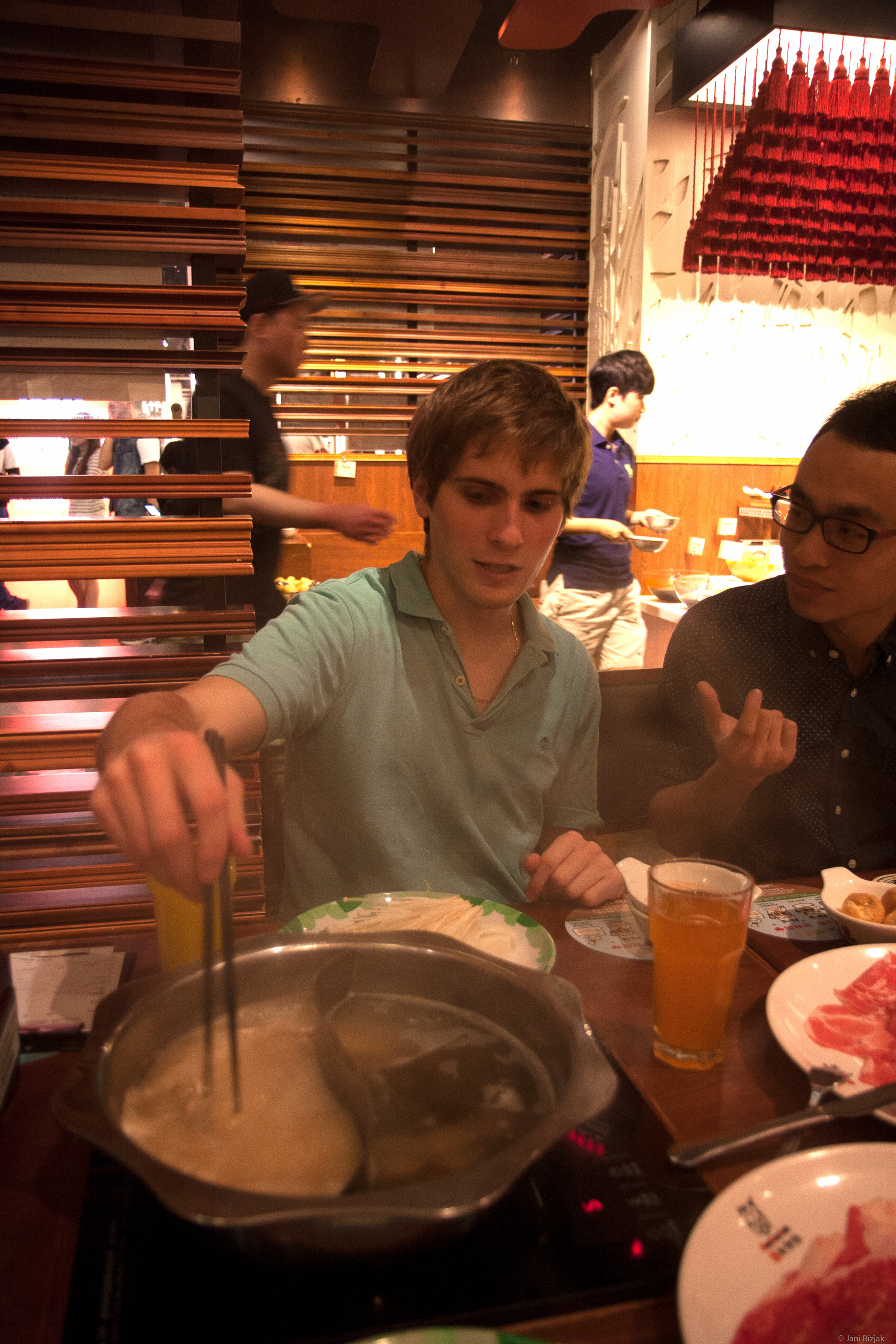 This is one of my favourite things in Hong Kong. Hot pot - a restaurant where you cook the food yourself.