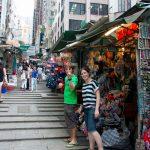 Market stalls on the street.