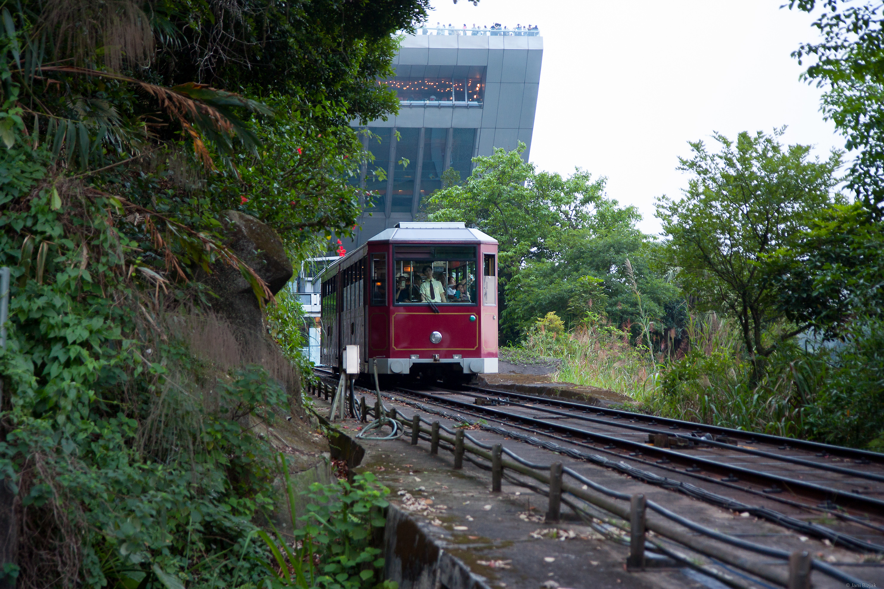 Tram that rides to the top of The Peak. Waiting time is about 3 hours. Walking time up is around 1h.