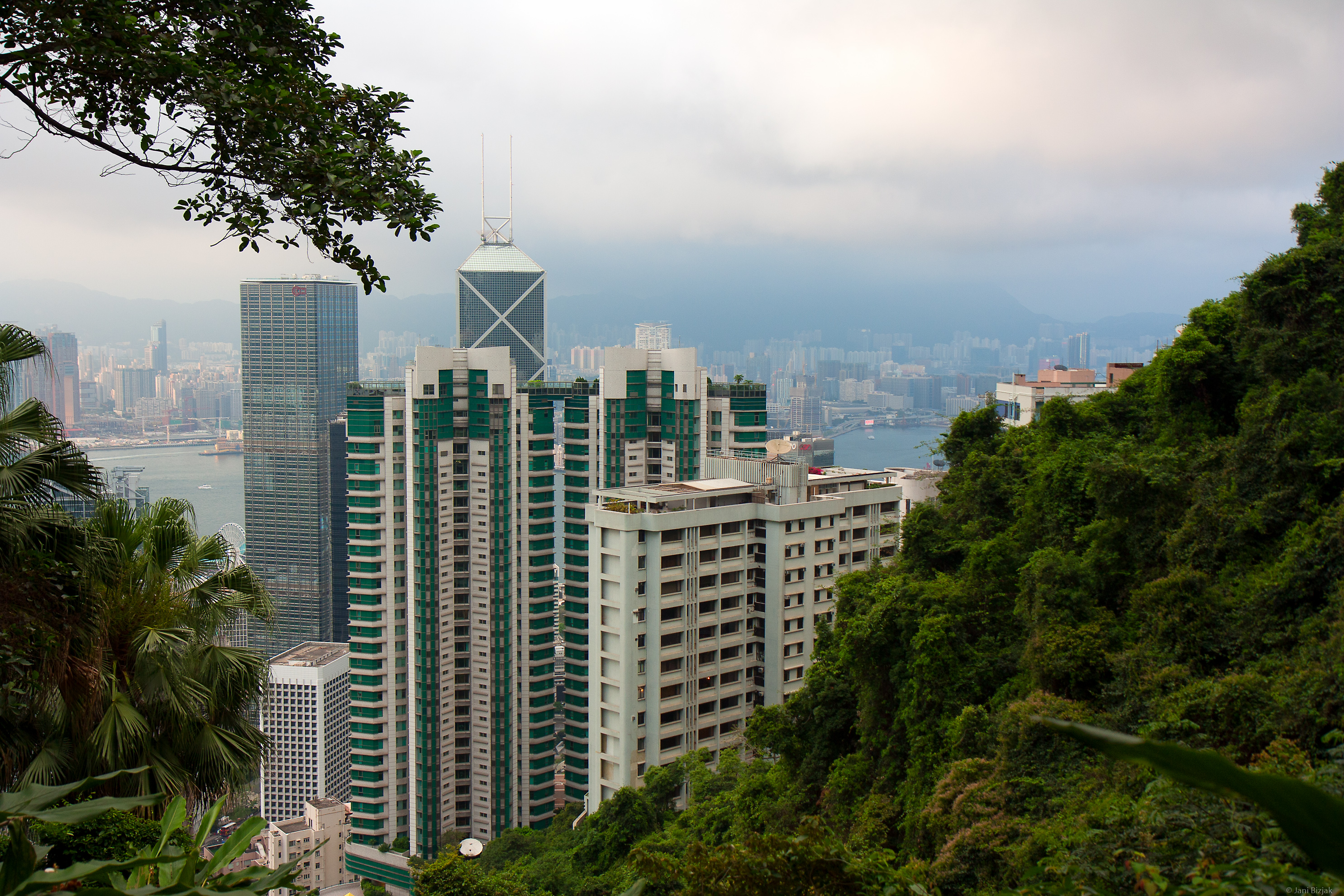 View of the city from the hill.