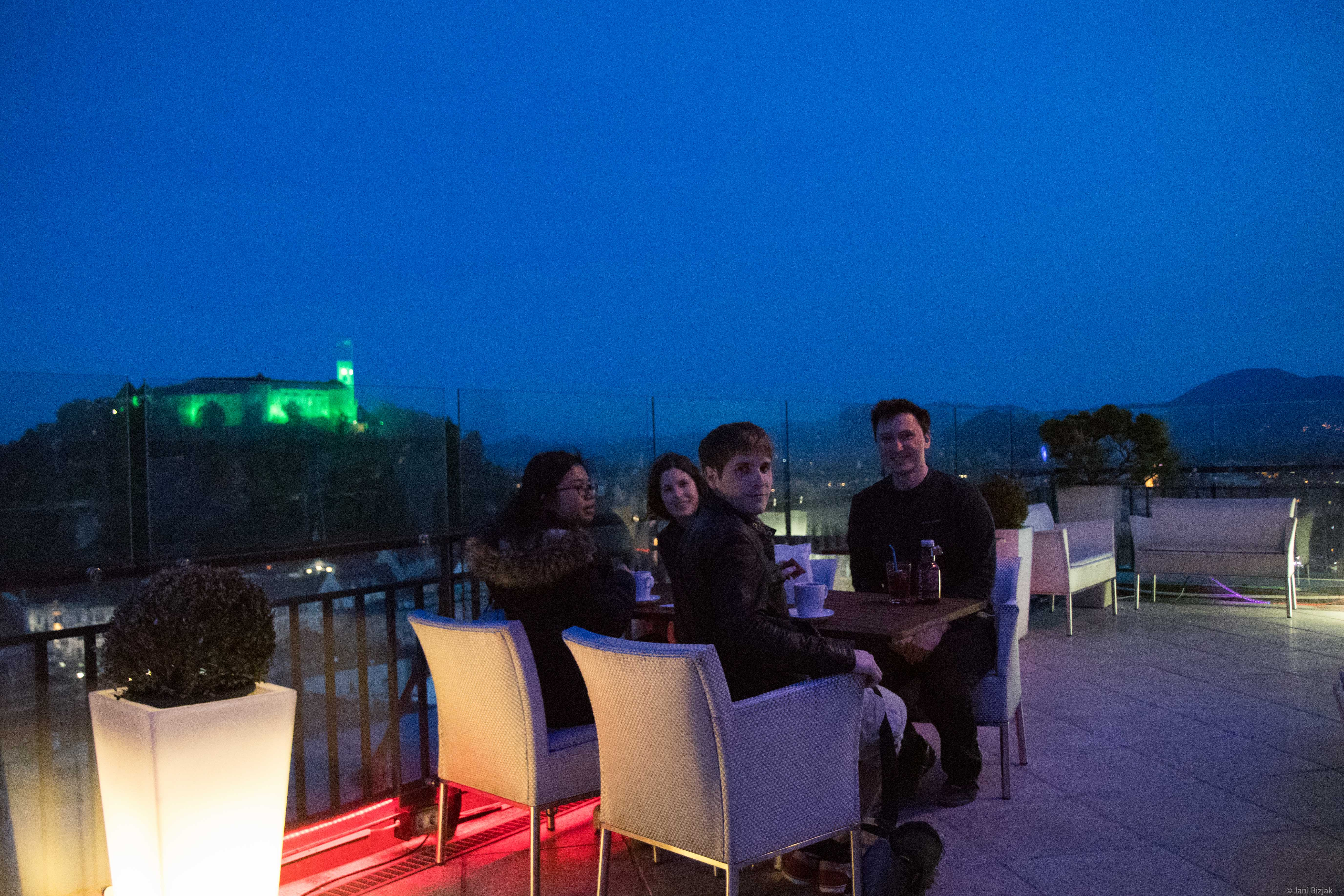 At top of Nebotičnik
