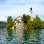 Island in lake Bled