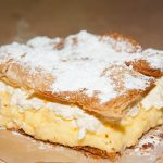 My home made kremšnita. I mixed the cream by hand! :(