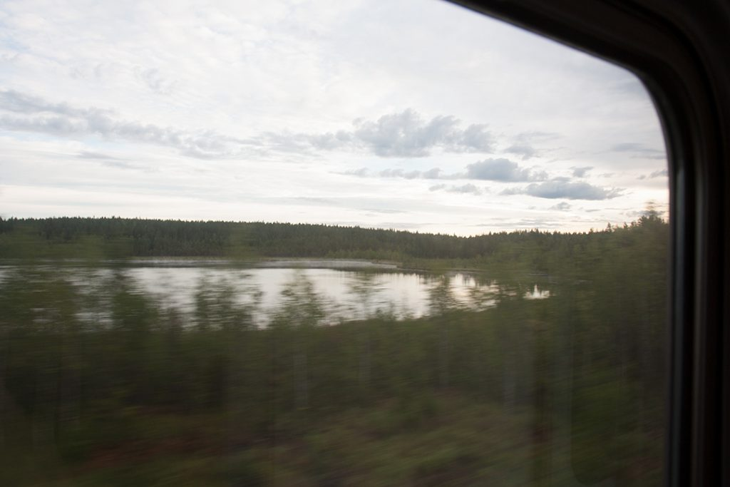 Sweden from train.