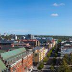 Luleå downtown panorama