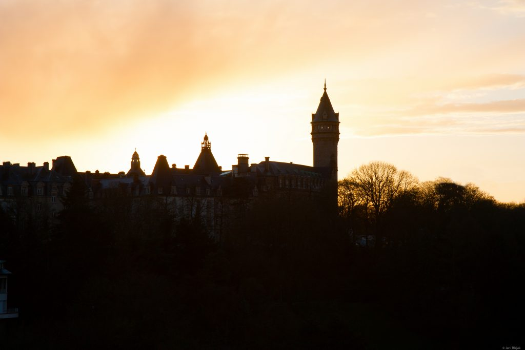 Luxembourg in the sunset