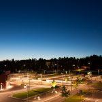 Night sky in Luleå
