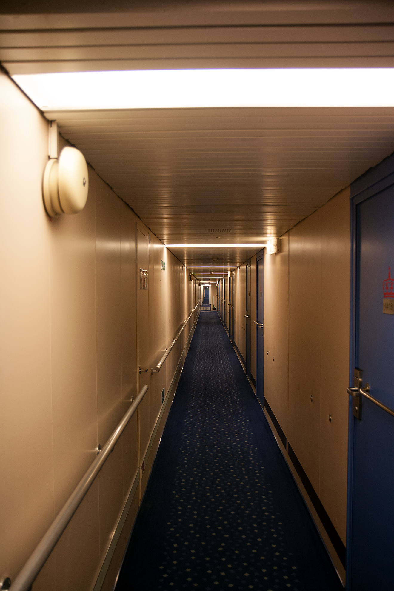 Long hallways inside
