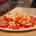 Tomatoes and eggs, it's actually  quite good.