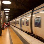 Arlanda airport underground train station.