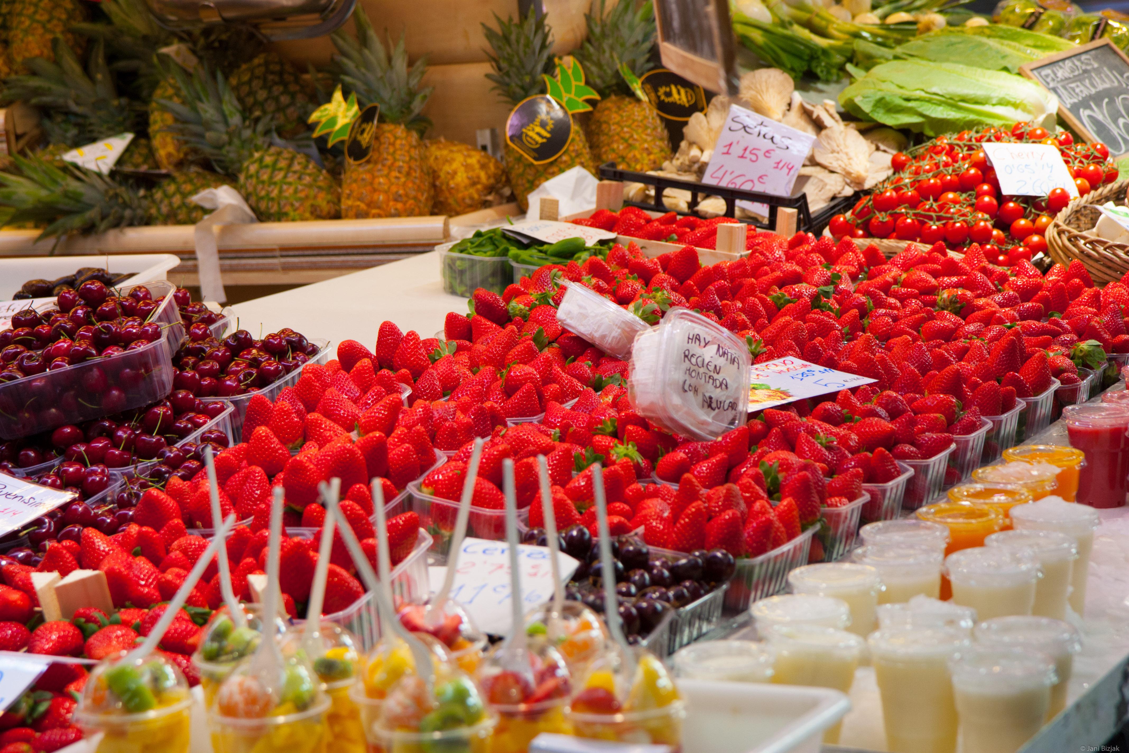 Strawberries in December.