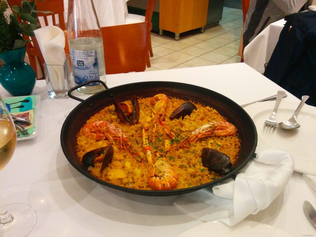 Paella in Valencia.