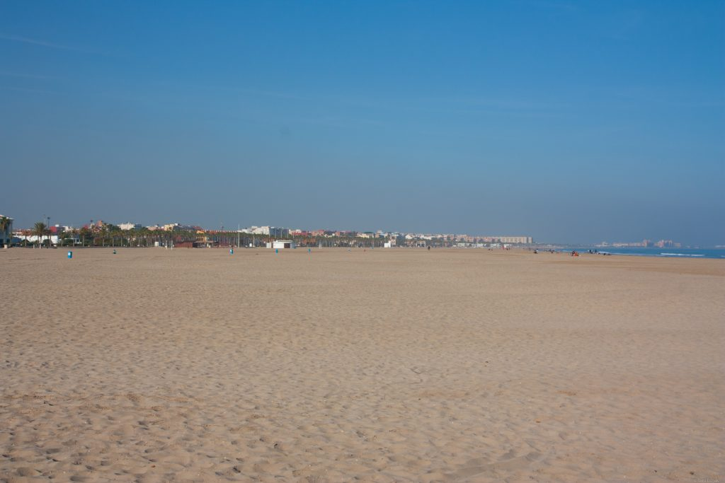Valencia's beach.