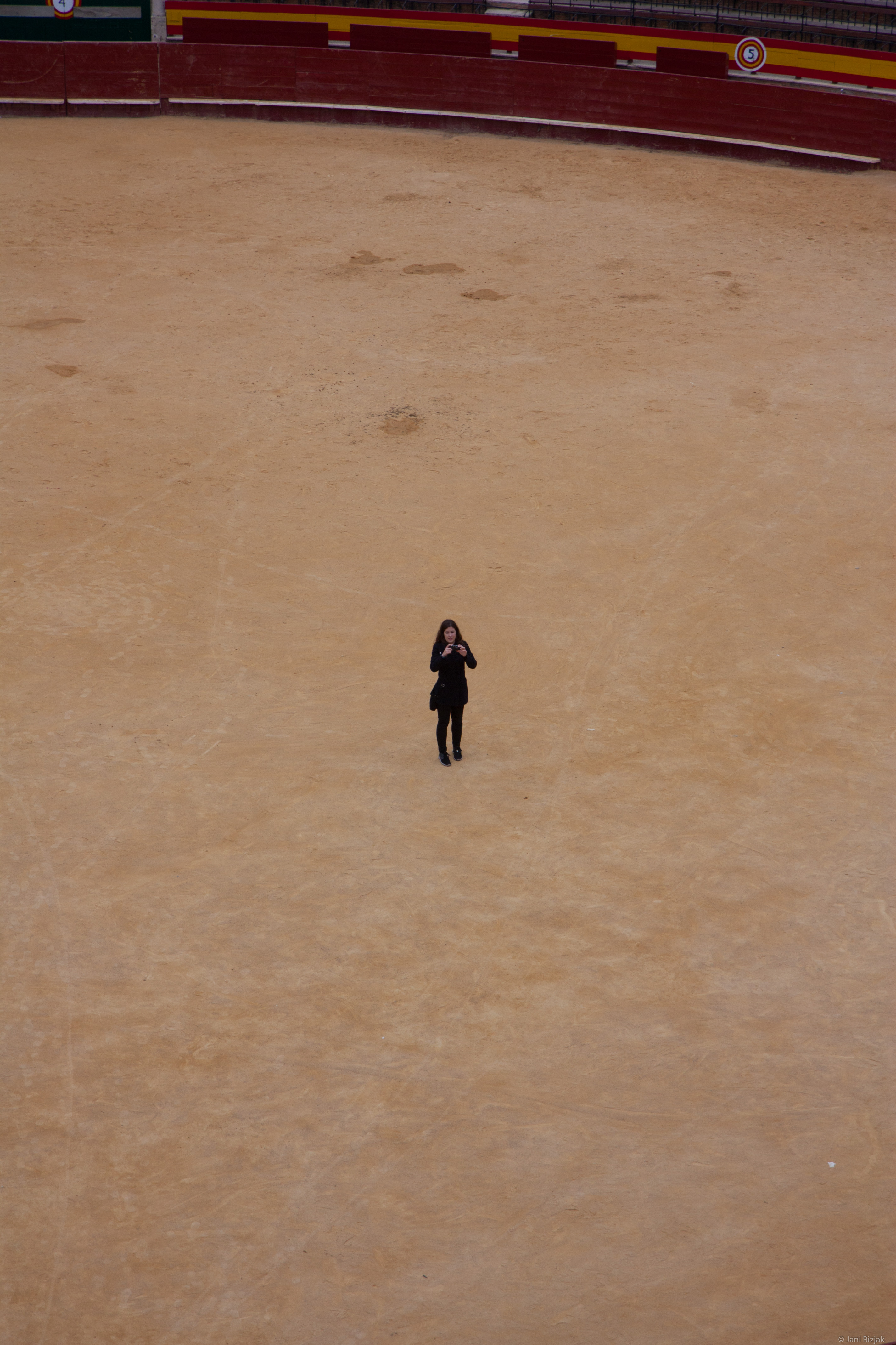 Veronika in the middle of arena