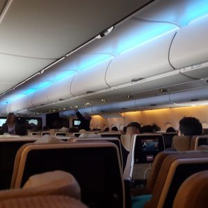 Inside of a Airbus 380