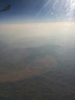 Desert over Iraq/Iran.