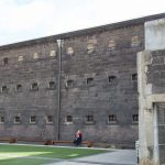Old prison. Nowadays you can pay to be locked in there as a tourist.