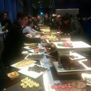 Food at reception.