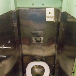 Toilet in submarine