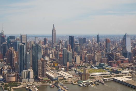 Empire State Building from the helicopter.
