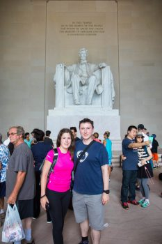 At the Abraham Lincoln memorial.