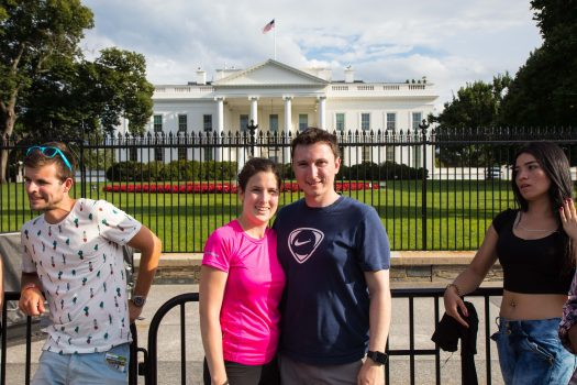 Veronika and I in front of the White house. Wonder if Obama was at home.