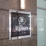 The conference was held at the Hilton hotel on 5th Avenue.