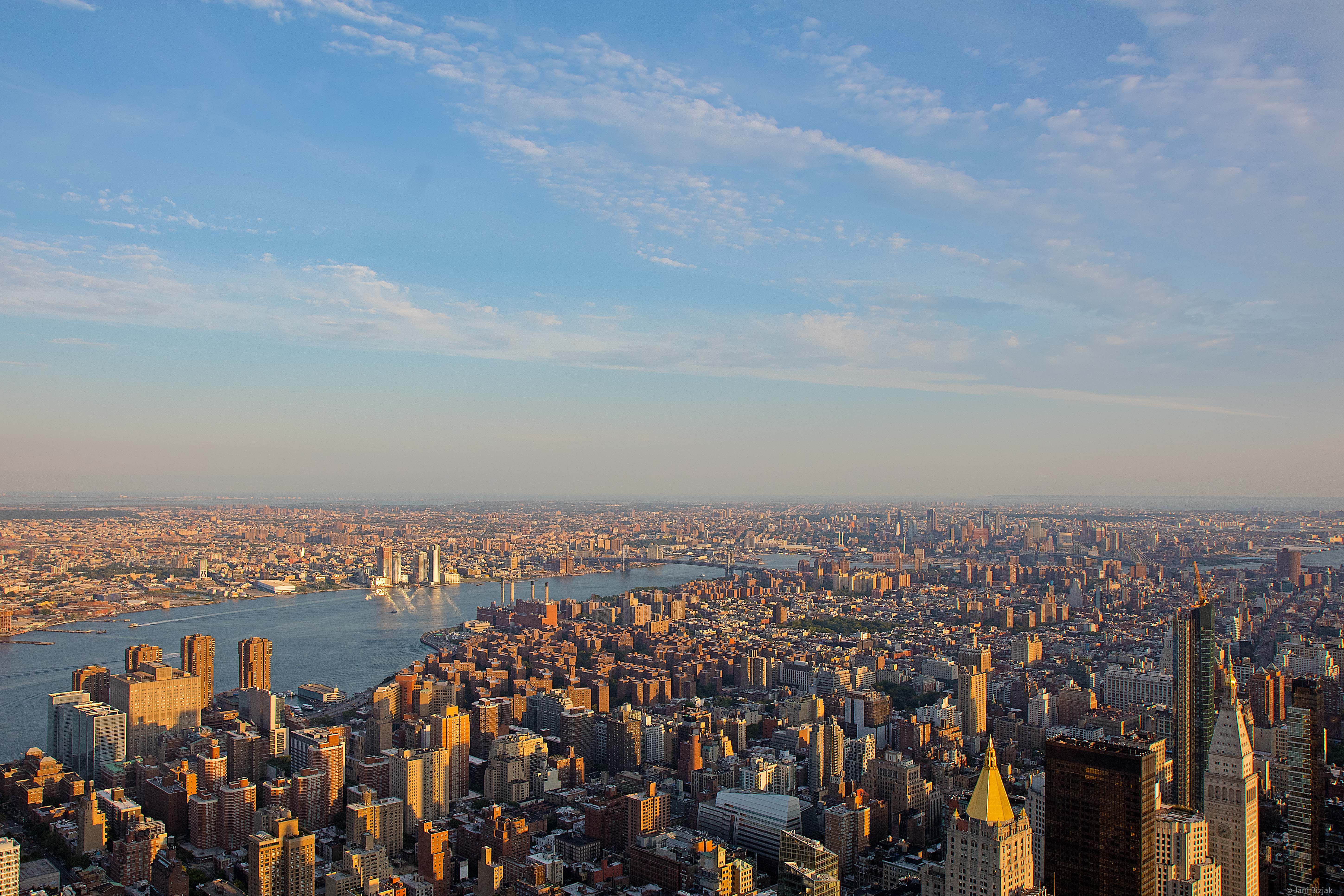 Brooklyn bridge from Empire State Building.
