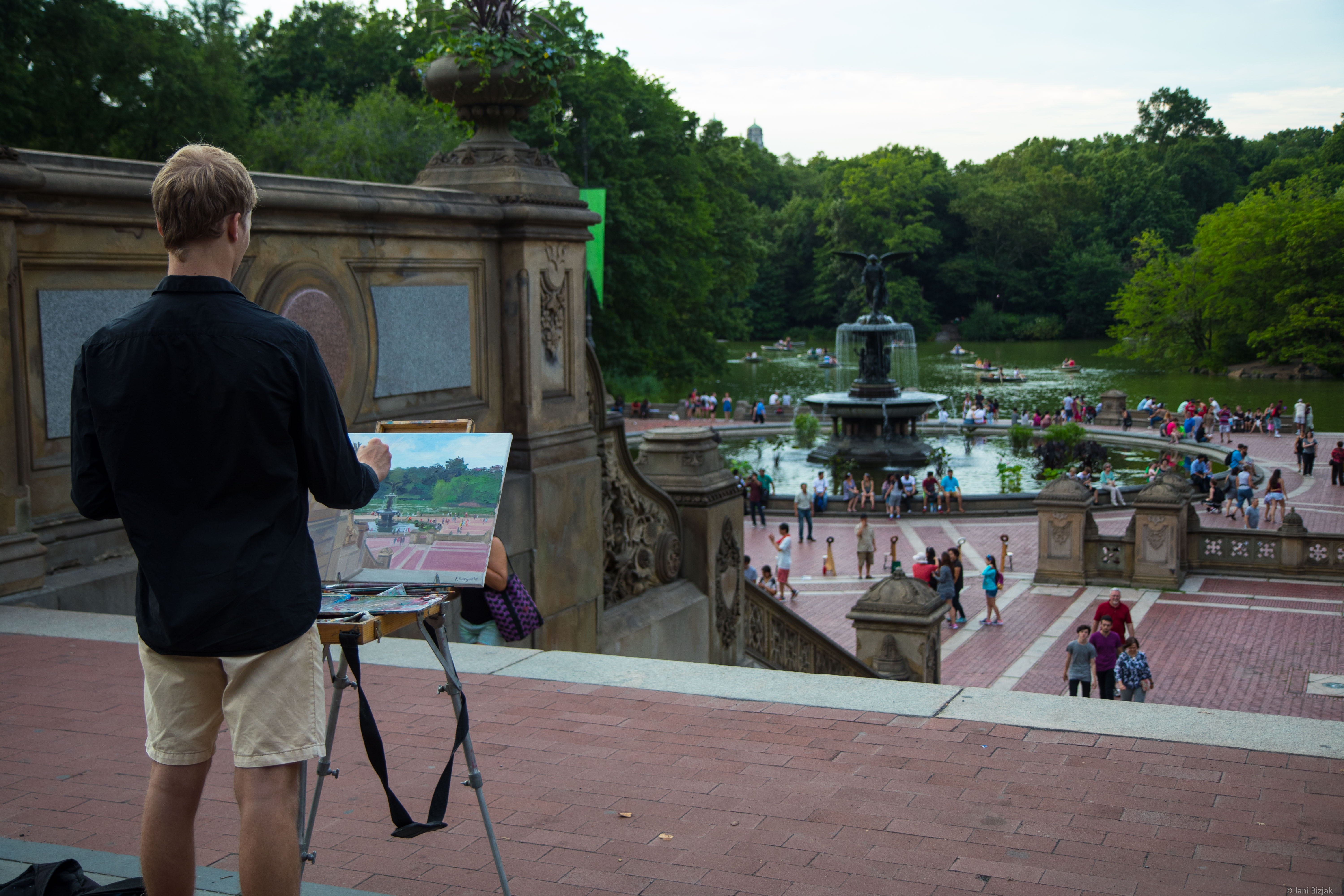 Painting in central park.