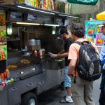 There was vast variety of food trucks around. From most common mexican food, to thai and hotdogs.