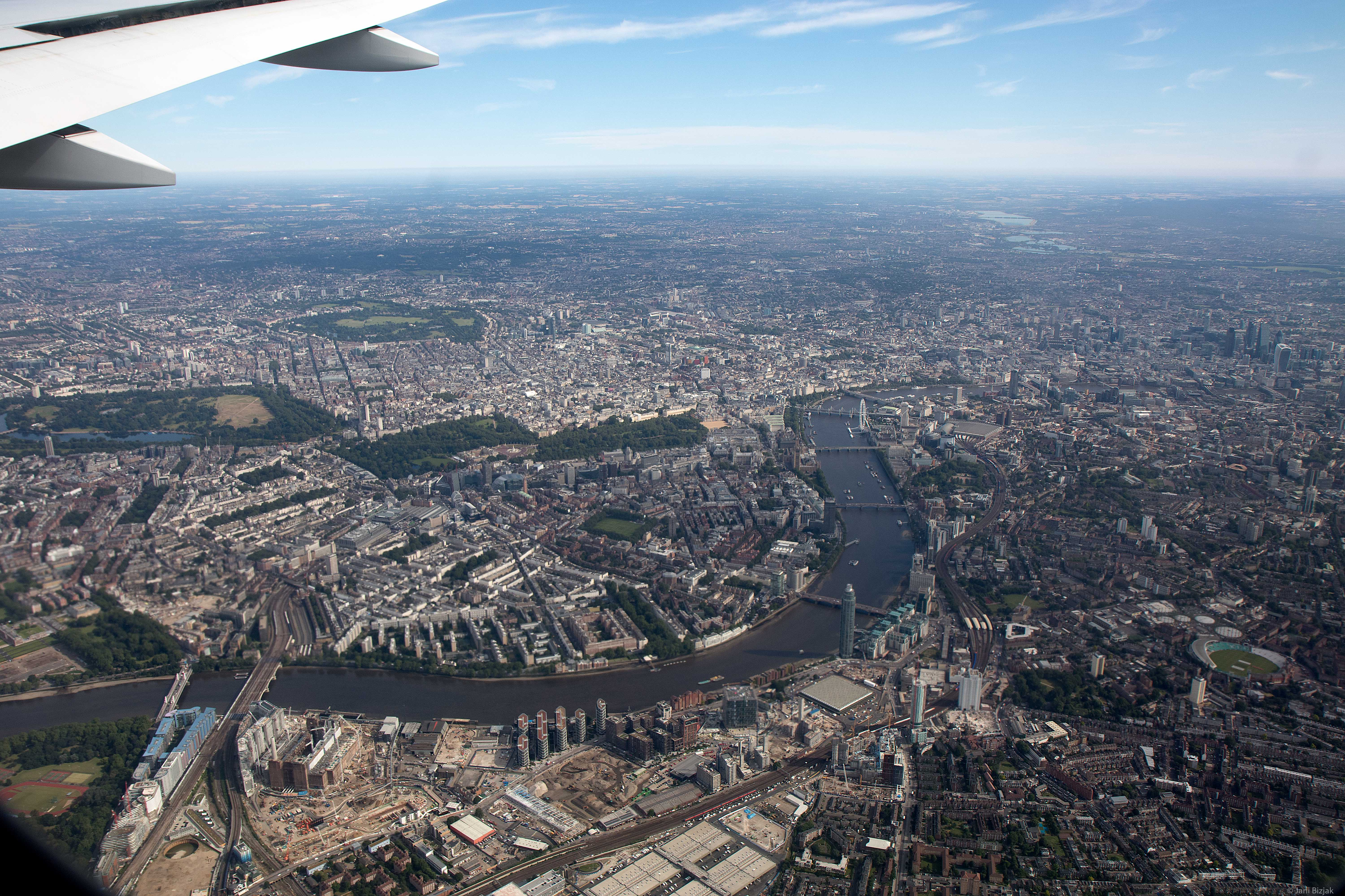 London from air.
