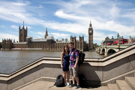 Veronika and I in front of Westminster.