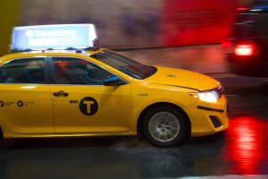 You can't say New York without yellow taxi.