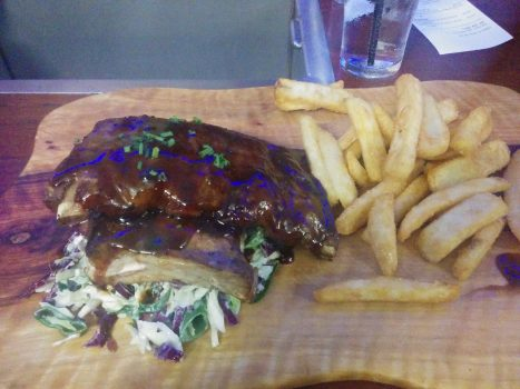 Ribs and fries, the best meal we had in Australia.