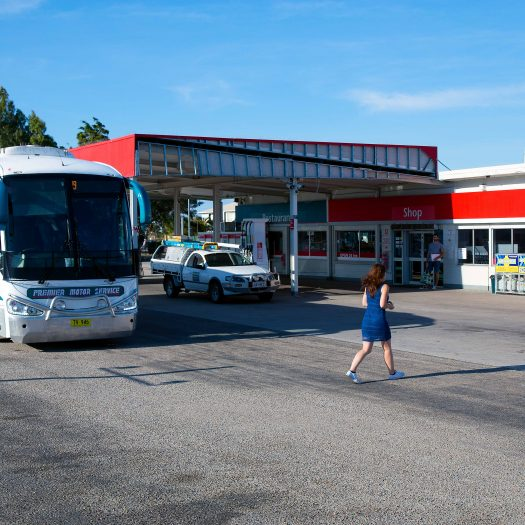 Our bus at a petrol stop.