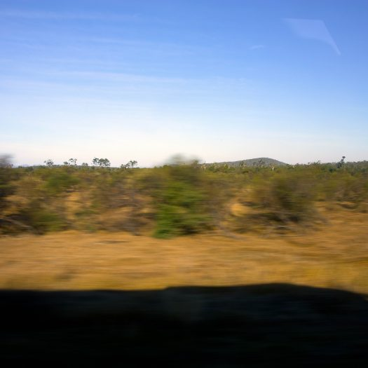 Landscape through the window. Sadly it was nearly impossible to take some more interesting pictures from a bus.